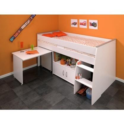 lit combin et bureau enfant milo achat vente lit combine lit combin cdiscount. Black Bedroom Furniture Sets. Home Design Ideas