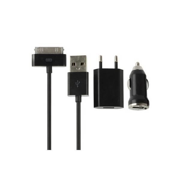 chargeur adaptateur chargeur apple iphone 4 4s noir. Black Bedroom Furniture Sets. Home Design Ideas