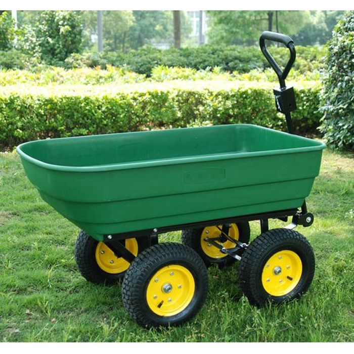 chariot de jardin main garden cart dump truck achat vente brouette cdiscount. Black Bedroom Furniture Sets. Home Design Ideas