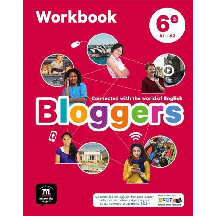 Livre Bloggers Anglais 6e Cahier D Activites