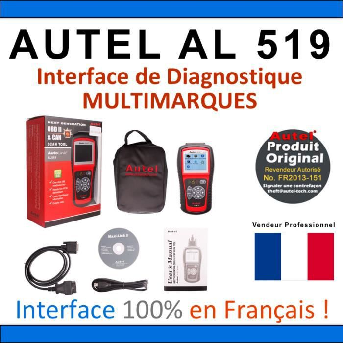 interface diagnostique auto multimarques autel autolink. Black Bedroom Furniture Sets. Home Design Ideas
