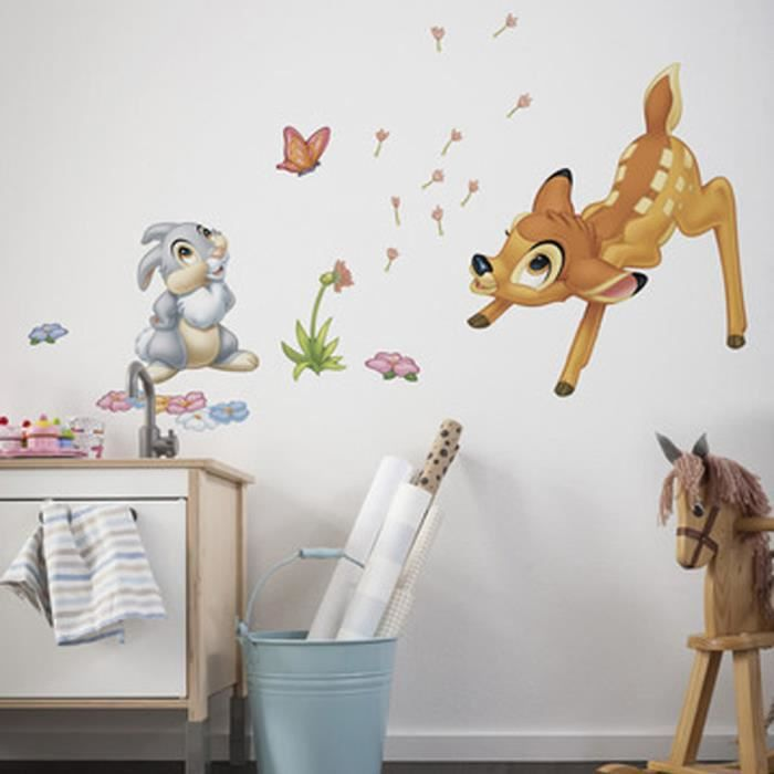 Stickers g ant bambi panpan disney achat vente stickers cdiscount - Stickers geant chambre fille ...