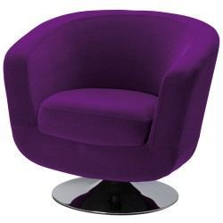 fauteuil de bar velours violet achat vente fauteuil. Black Bedroom Furniture Sets. Home Design Ideas