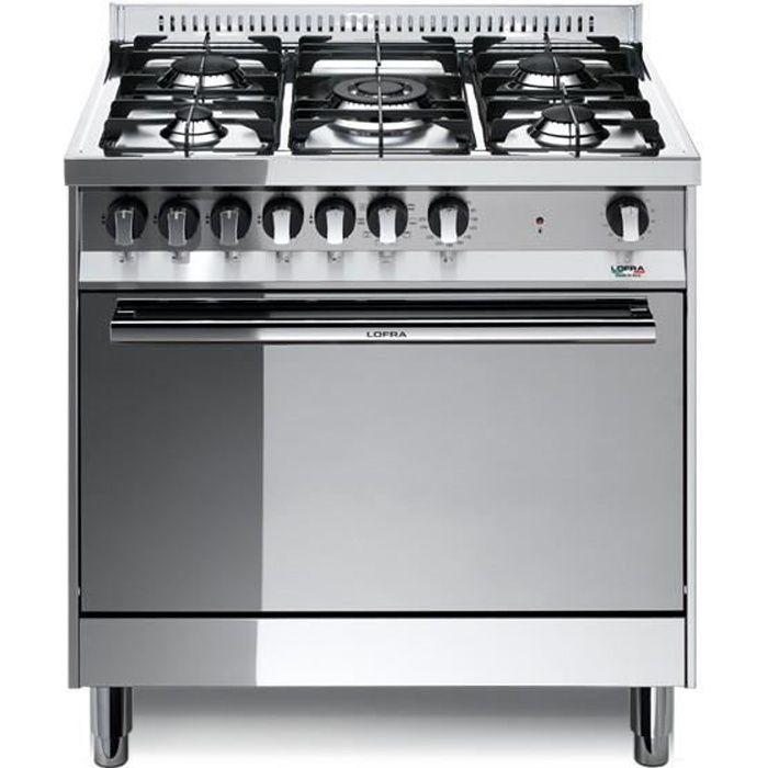 PLAQUE MIXTE LOFRA MG86MF-C 80X60 cuisinière avec plateau en ac