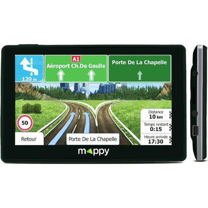 GPS AUTO GPS MAPPY - 4,3 pouces - Cartographie 14 pays Euro