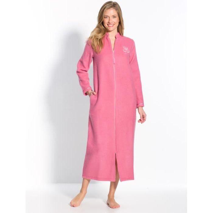 Robe De Chambre Zippee En Molleton Courtelle Achat Vente Robe De Chambre Cdiscount