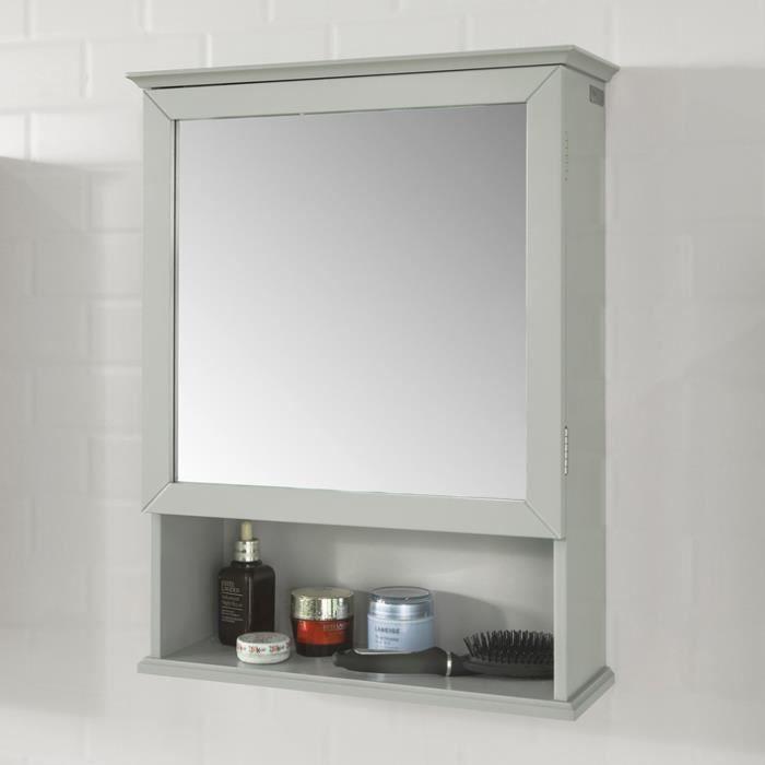 Sobuy Bzr08 Hg Meuble Haut Armoire Suspendue De Toilettes Placard Mural Avec Miroir Pour Salle De Bain Armoire à Pharmacie