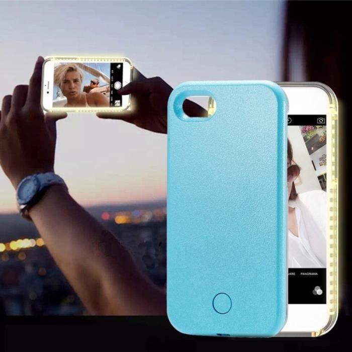 coque iphone 8 plus selfie light