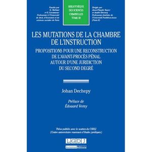 Les mutations de la chambre de l 39 instruction achat for Chambre d instruction