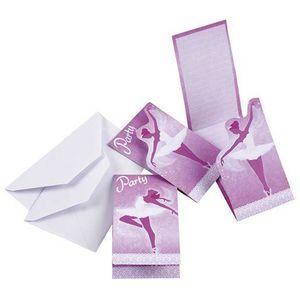 FAIRE-PART - INVITATION Cartes d'invitation anniversaire Danseuse