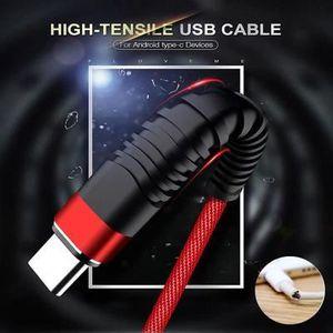 CÂBLE TÉLÉPHONE 2m Câble de USB Type C pour Samsung Galaxy S9 S8 P