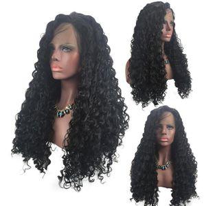 PERRUQUE - POSTICHE Perruques de cheveux bouclés synthétiques Fibre de