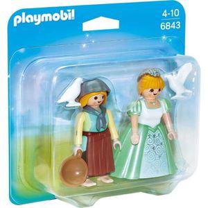 FIGURINE - PERSONNAGE PLAYMOBIL 6843 - Princesse et Servante