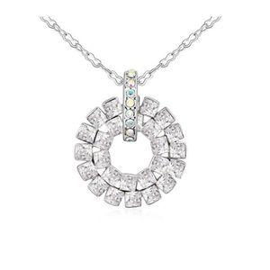 SAUTOIR ET COLLIER Pendentif Cercle orné de cristaux de Swarovski Bla