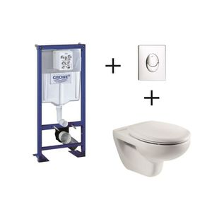 WC - TOILETTES Pack complet wc suspendu GROHE Bâti-support 113 cm
