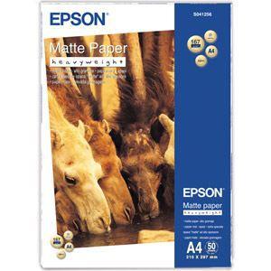 PAPIER THERMIQUE EPSON Papier photo mat S041256 - 167g/m2 - A4 - 50