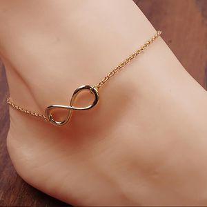 CHAINE DE CHEVILLE Huit Shaped main bracelet de cheville debout chaîn