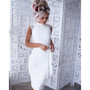 ROBE Robe en dentelle blanche femmes élégantes robes de