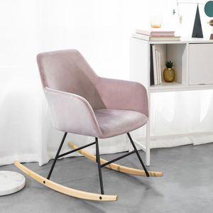 FAUTEUIL SoBuy® FST68-P Chaise à Bascule avec Accoudoirs, F