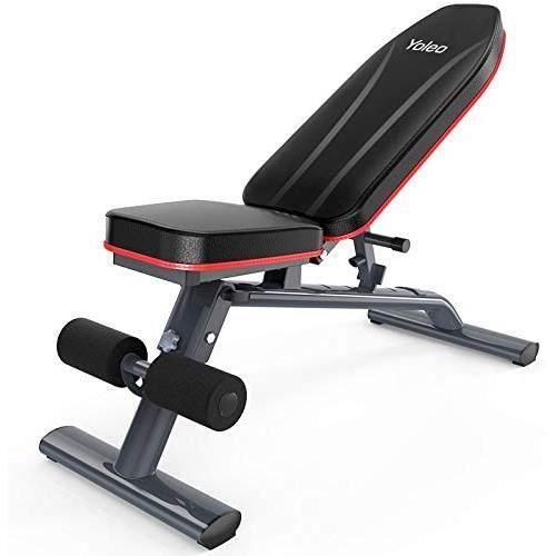 Banc de Musculation Pliable Banc de Poids Gymnastique à Domicile Bureau, Réglage 3 + 6 Positions, Max Capacité de Poids 250 KG