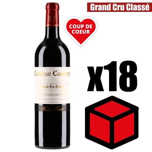 X12 Château Chauvin 2016 75 cl AOC Saint-Emilion Vin Rouge Grand Cru Classé
