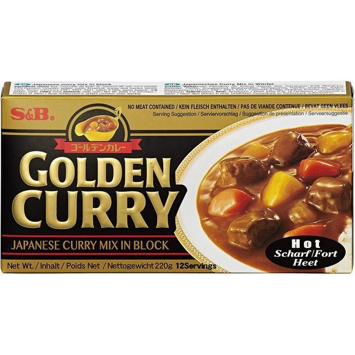 Golden Curry Bloc de curry du Japon fort 220g