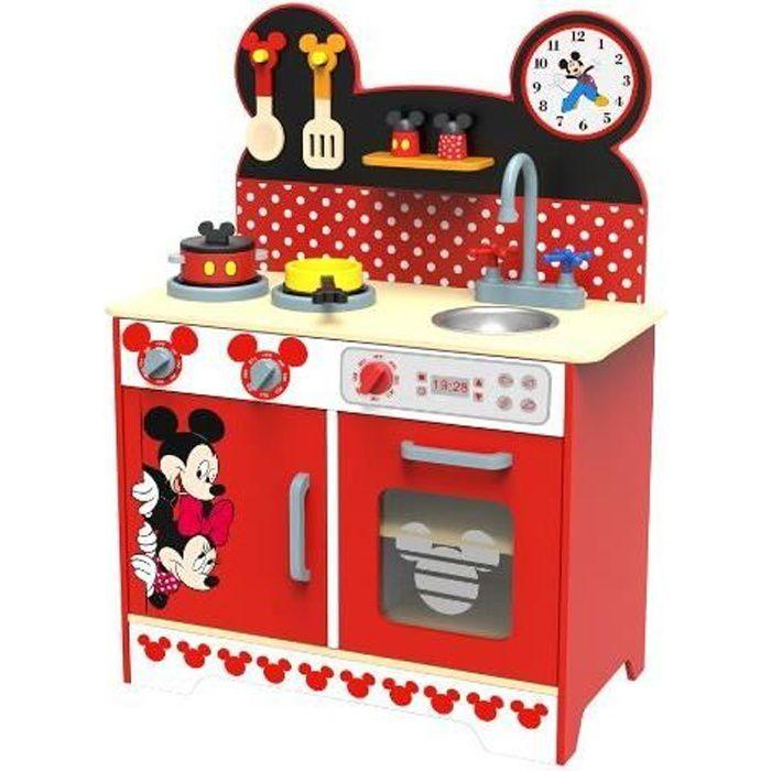 Cuisine en bois dans le thème de Mickey Mouse. Accessoires inclus. Pour les enfants à partir de 3 ans.