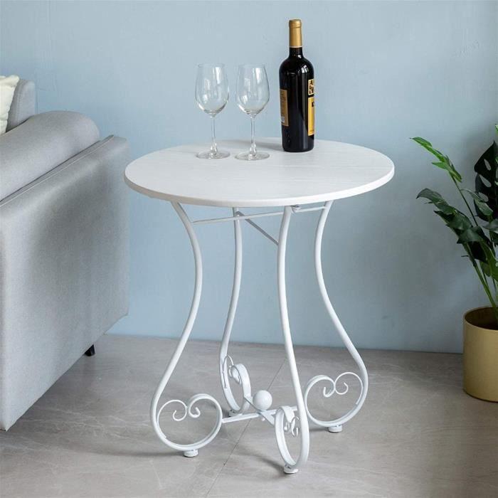 Table basse de jardin En fer forg&eacute Petite table ronde Sofa Table d'appoint Loisirs Balcon Jardin ext&eacuterieur Petite t77