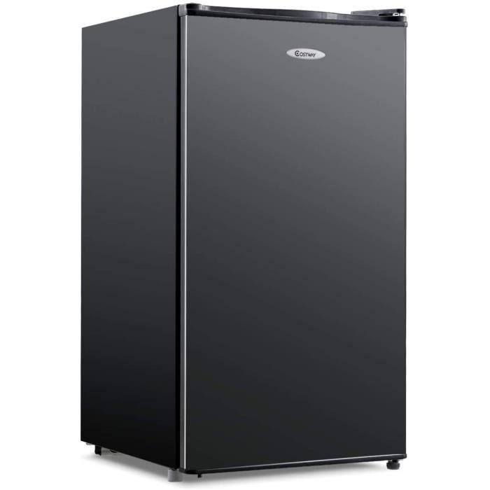 DREAMADE Mini-Réfrigérateur, Capacité 91L, 230V, 50HZ Frigo Combiné avec 4 Niveaux de Clayettes, Compartiment à Légumes, Faible Nive