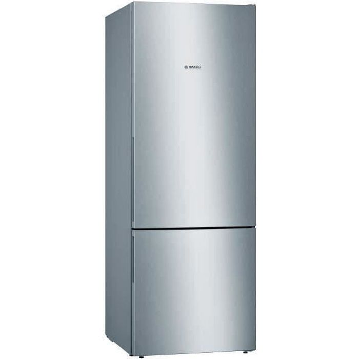 BOSCH KGV58VLEAS - Réfrigérateur combiné - 500 L (376 L + 124 L) - Froid low frost grande capacité- A++ - L 70 x H 191 cm - Inox
