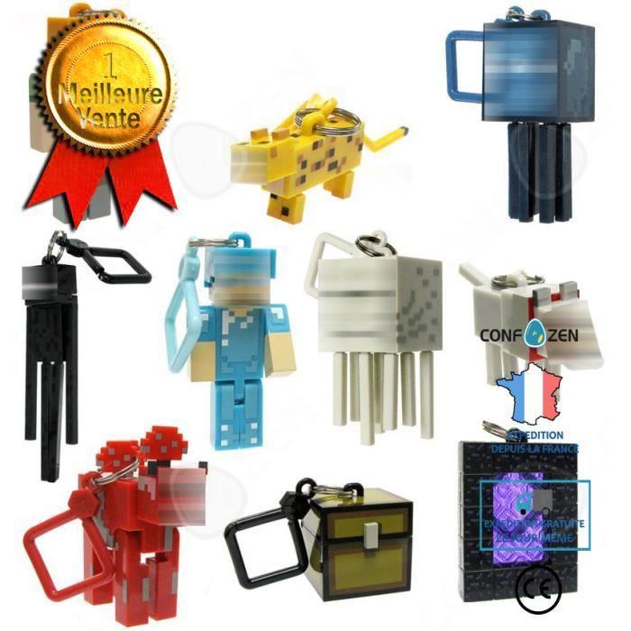 CONFO® Porte-clés Minecraft MC Minecraft Périphérique Épée Choisir Lampe De Mineur Pendentif En Plastique 10 Modèles