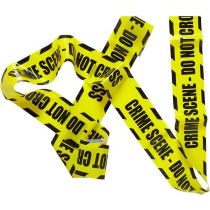 Ruban police scene de crime