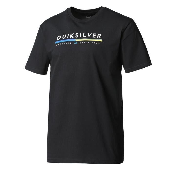 QUIKSILVER T-Shirt Retro Lines - Homme - Noir
