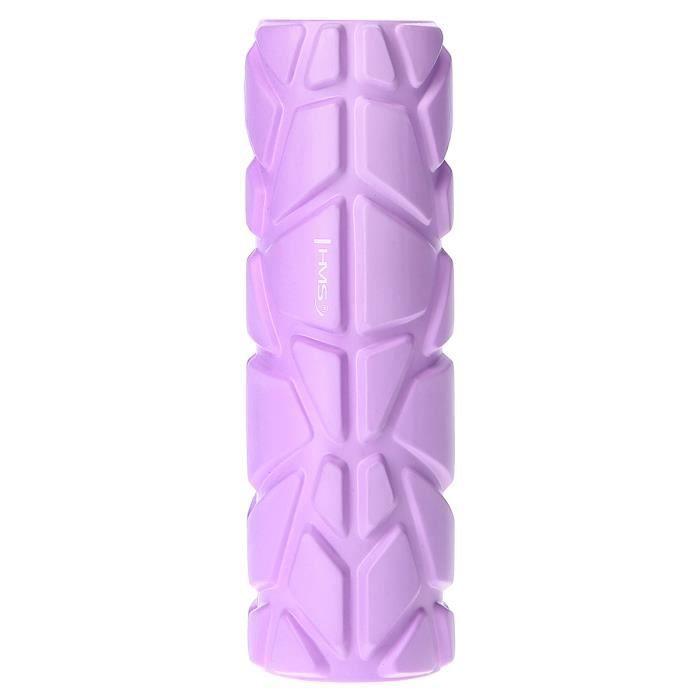 HMSPORT - Rouleau d'automassage en mousse EVA - PVC - Fitness foam roller - Appareil de massage - Détente musculaire - Violet