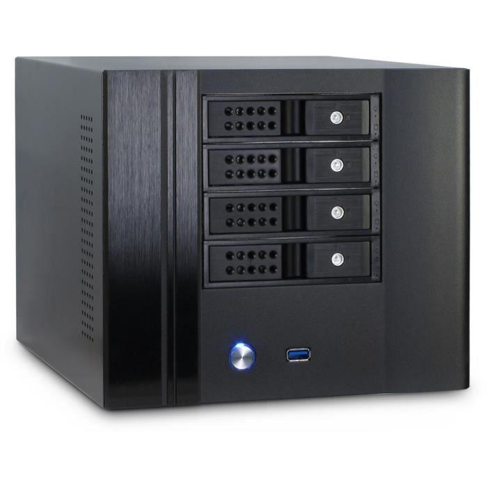 Inter-Tech IPC SC-4004, Small Form Factor (SFF), PC, Acier,...