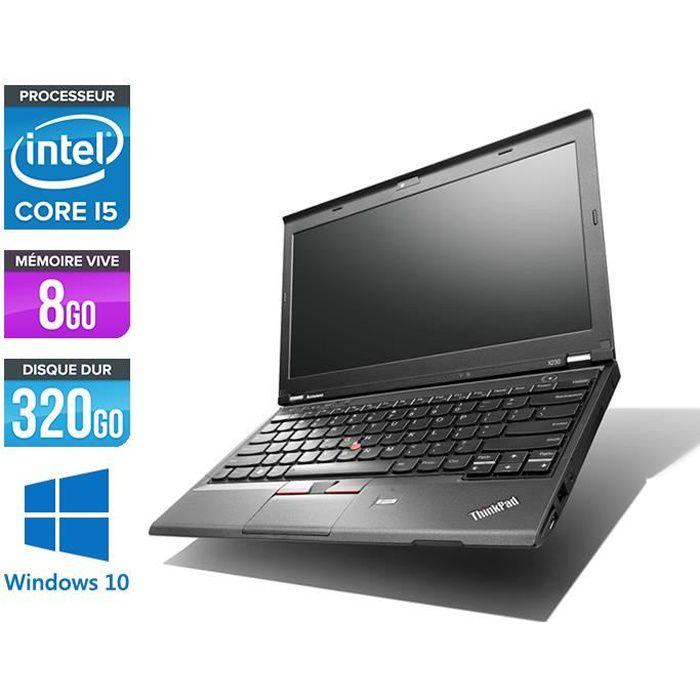 Pc portable Lenovo X230 i5 8 Go 320 Go 12.5'' Win 10