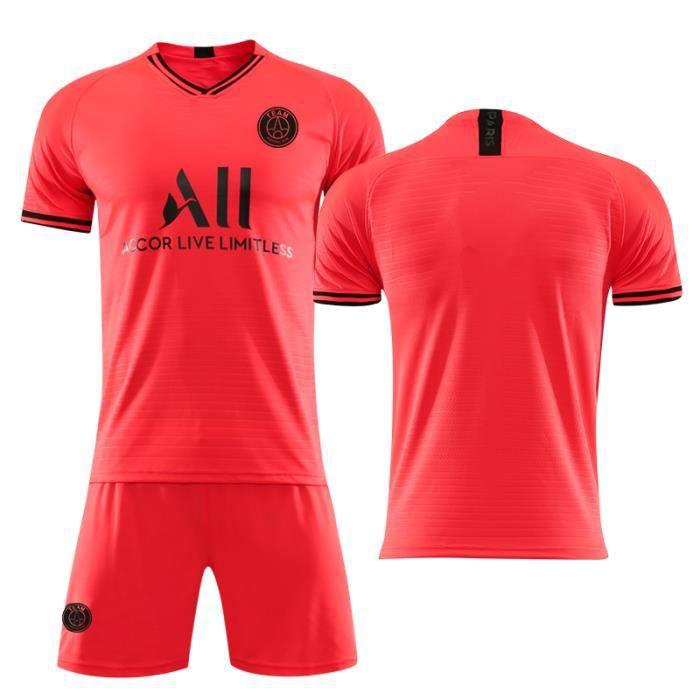 PSG Jordan Maillot de Foot Football Soccer(maillot + shorts)Suit 2019 2020 Pas Cher pour Homme