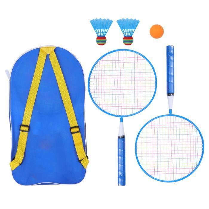 1 Set / 6pcs Enfants Badminton Raquette Formation Sports de Plein Air Loisirs Jouets RAQUETTE DE BADMINTON - CADRE DE BADMINTON