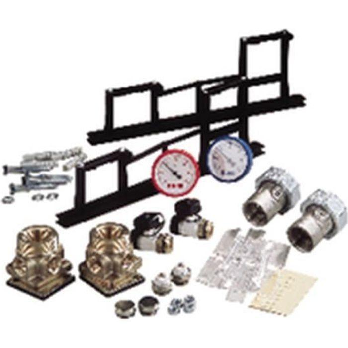 Rehau Set de montage pour collecteur (comprend tous les accessoires nécessaires au montage d un collecteur sauf barres d assembla...