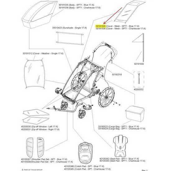 Transporteurs Accessoires Thule Cover Mesh Spt1 - SPT1 - Bleu