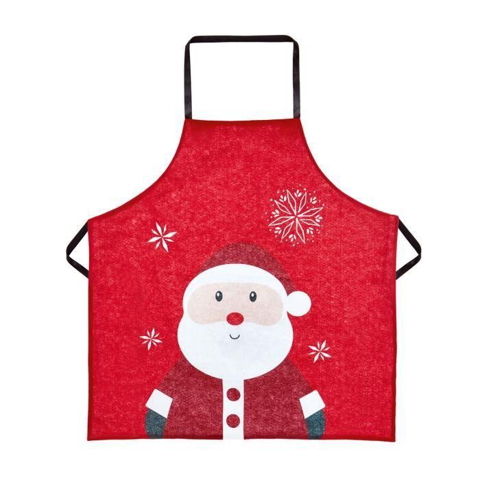 Tablier en feutre rouge de Santa pour adulte - pour la pâtisserie et l'artisanat - 85 x 60 cm de TRIXES