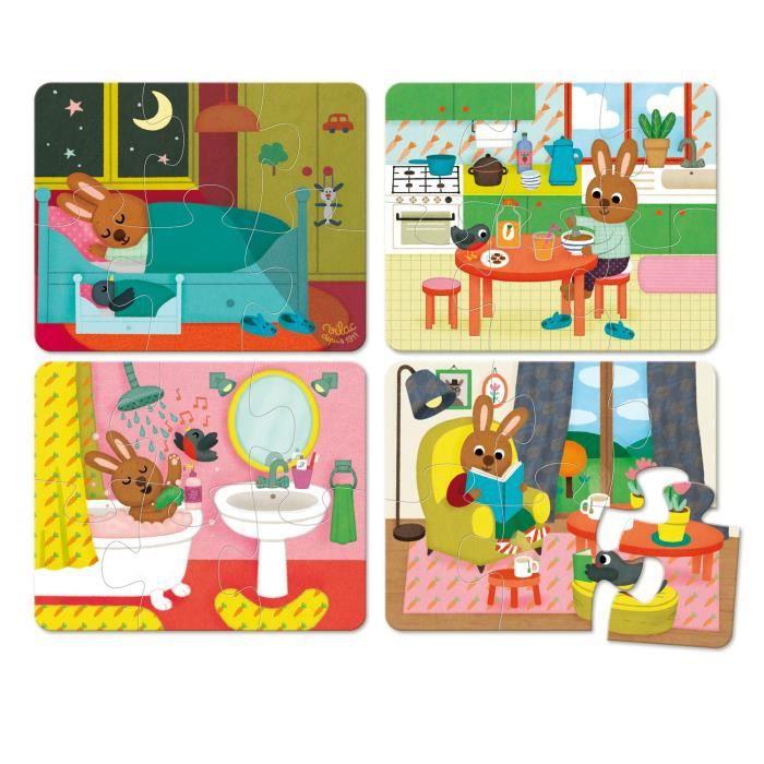 VILAC Puzzles de la maison - coffret bois