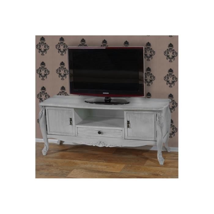 Meuble tv barletta baroque antique antique blanc achat for Meuble antique a donner