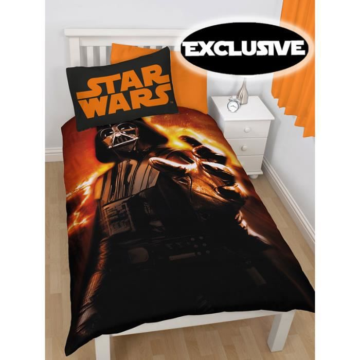 star wars housse de couette 1 pers achat vente housse de couette cdiscount. Black Bedroom Furniture Sets. Home Design Ideas