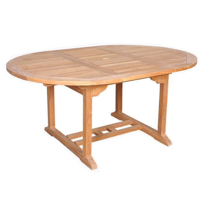 Table ronde barcelone teck massif achat vente table de - Table ronde teck ...