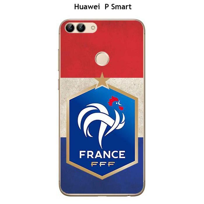 Coque Huawei P Smart design Foot France fond drap