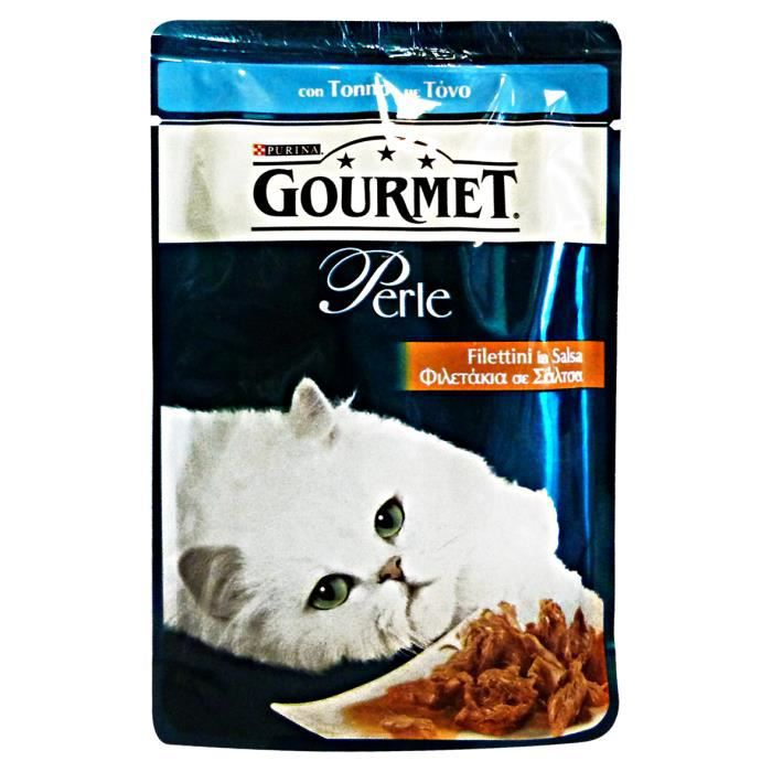 PRODUIT DE THON PERLE filets de thon 85 Gr. - Food For Cats