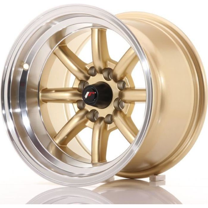 1 jante alu Japan Racing JR19 16x8 ET-20 4x100//114 Gold avec bague 73,1