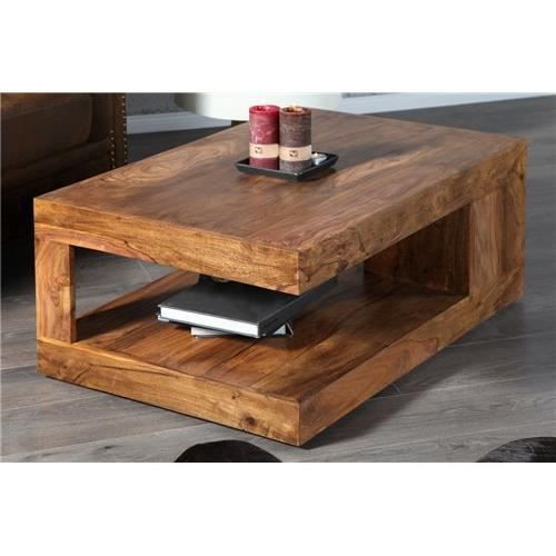 Table basse design gianto bois achat vente table for Table basse bois design