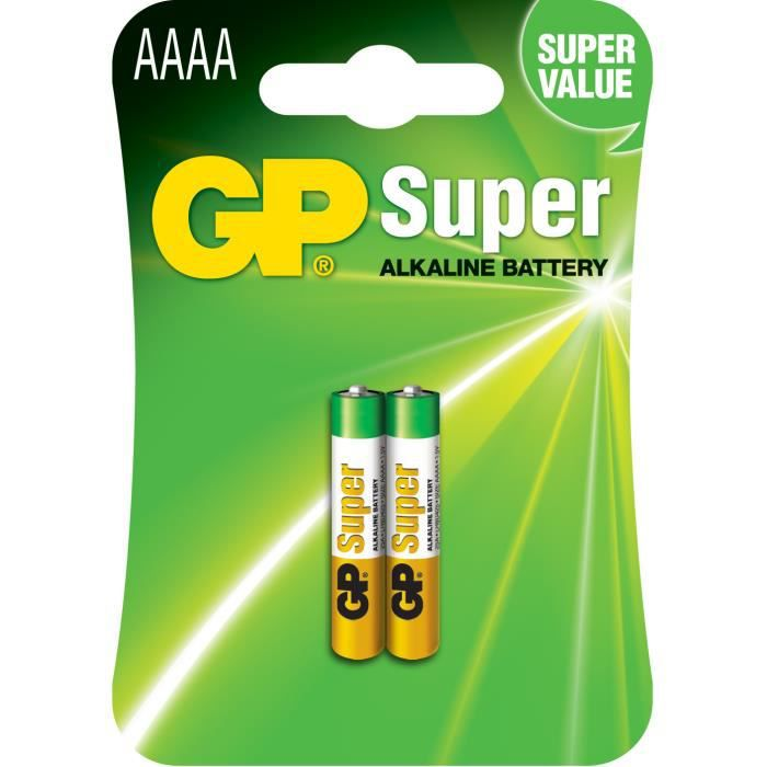 Pile alcaline aaaa lr61 1 5v gp batteries achat vente - Pile rechargeable 1 5v ...